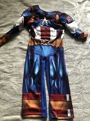 Boys Captain America Costume / Dressing Up Suit Used Age 5-6