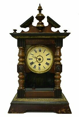 """Antique German Junghans Clock with Pendulum 18"""" tall - From the 19th Century"""