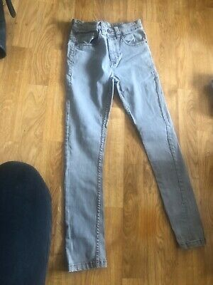 next boys grey skinny jeans with adjustable waist age 9 years