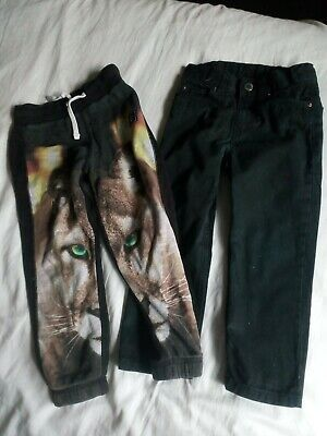 Boys black jeans trousers and tracksuit bottoms aged 4-5 years H&M