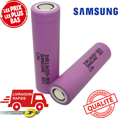SAMSUNG | Battery lithium-ion rechargeable cell 30Q 18650 3000mAh 15A Flat-Top