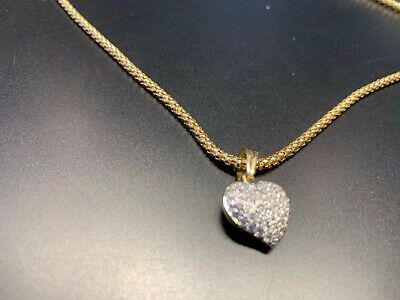 Chimento 18K Yellow Gold Necklace With Pave Diamond Heart.