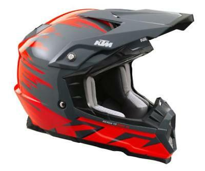 KTM Kids Dynamic FX Helmet Grey Childs Motocross Off Road Crash Helmet