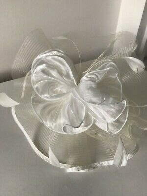 Ivory Fascinator With Floral Petals And Feathers On A Lightweight Band