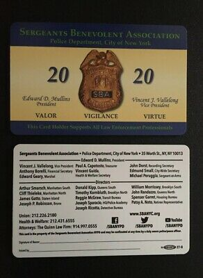 """2020 Nypd Sba Pba  Card, Authentic   Fast Shipping!!! Not Cea Lba Dea"