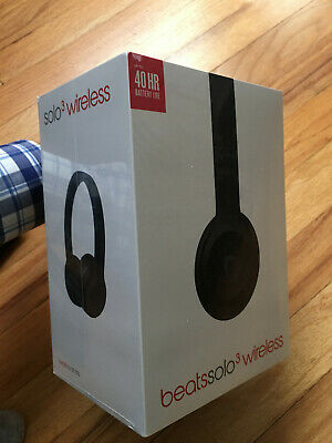 Beats by Dr. Dre Solo3 Wireless Over the Ear Headphones, Matte Black, NEW in box
