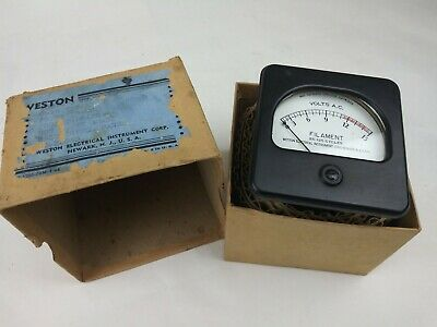 Vintage Weston Electrical Model 476 Square Face 0-15 Volts AC Meter