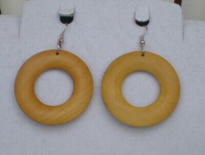 FUNKY LARGE ROUND HOOP NECKLACE CUTE KITSCH DISCO 60s 70s 80s COOL STYLE BOHO