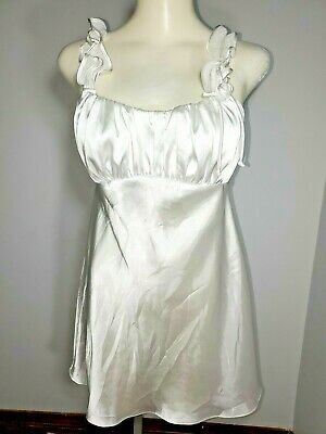 Vtg~Linea Donatella Nightgown Babydoll Lingerie S-S Shiny Wet Look Flattering