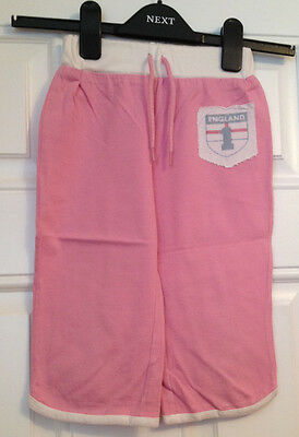 E-vie girls pink capri/cropped trousers 100% cotton age 3-4 years