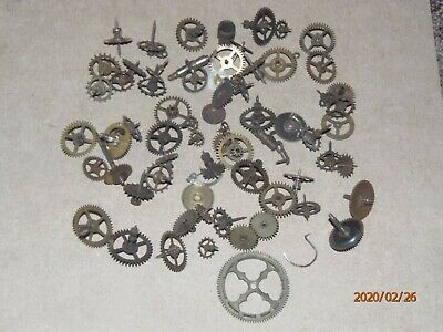 Vintage clock, job lot gears, cogs, from Smiths clocks?