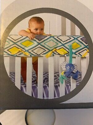 Babee talk Crib Rail Cover For Teething Grey Set Of 2