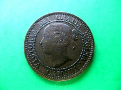 Canada 1 cent 1859 VF  W9/8. Die crack C of Victoria. D letters.