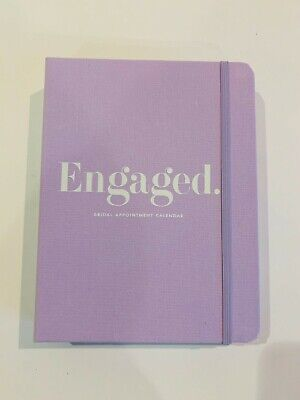 "Kate Spade New York  Bridal Planner ""Engaged"" 15 month Calendar, pouch,7.75"""