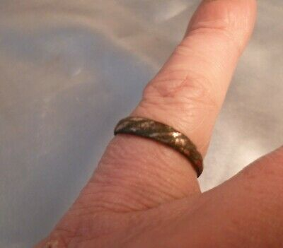 Amazing Ancient Viking Norse Rope Effect Bronze Ring-Metal Detecting Find
