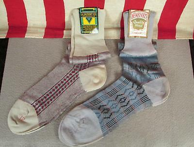 Vintage 1940s JC Penney & Newberry Co Mens Deadstock Socks Hosiery Stockings NOS