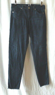 AG Adriano Goldschmied Women's Jeans 25R Legging Skinny Cropped Distressed EUC