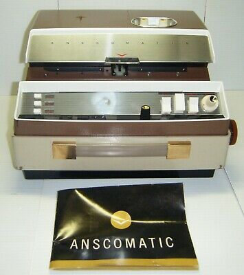 Vintage Anscomatic JN-276 Slide Projector With Remote & Cover