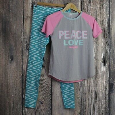 Ivivva by Lululemon Lot Outfit Girls Size 14 Shirt Leggings