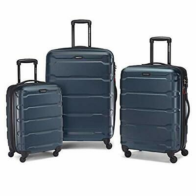 New Omni Expandable Hardside Luggage with Spinner Wheels,3-piece Set,Teal,