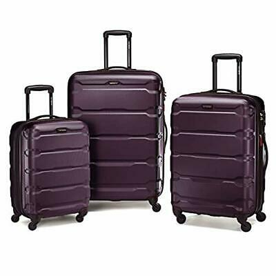 New Omni Expandable Hardside Luggage with Spinner Wheels,3-piece Set,Purple