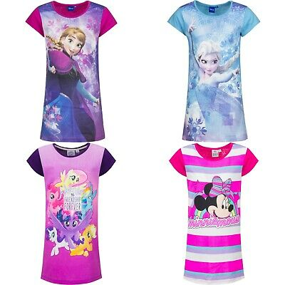 Girls Kids Disney Frozen 100%Cotton Nightie Nighty Nightdress Pjs Age 3-8 years