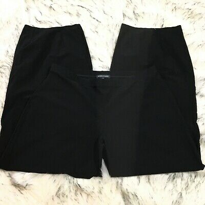 Eileen Fisher Womens Casual Stretch Relaxed Wide Leg Capri Pants Size S Small