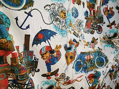 Vintage Children's Dog Print Curtains Fabric
