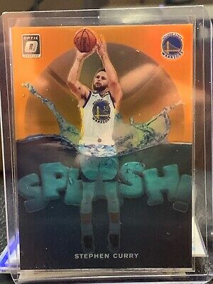 2019-20 Panini Optic Stephen Curry Steph Splash! Insert Orange /39 Warriors