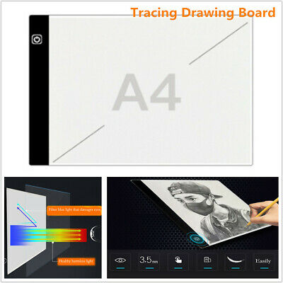A4 3Level LED Light Tracing Drawing Board Stencil Tattoo Art Design Copy Pad Kit