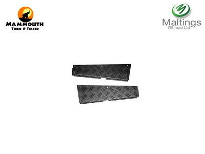 Land Rover Defender 110 Chequer Plate Rear Corner Tub Chequer Plate Black 110