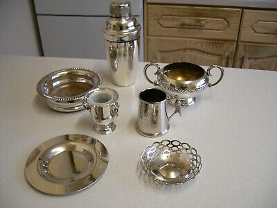 Job Lot of 7 Small Vintage Silver Plated Tableware Items (2840)