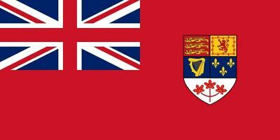 Canada 1957-65 Banner/Flag 100% Polyester Premium With Metal Grommets