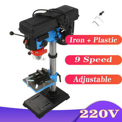 9 Speed Pillar Drill 16mm Chuck 550w Motor Press Bench Top Mounted Drilling