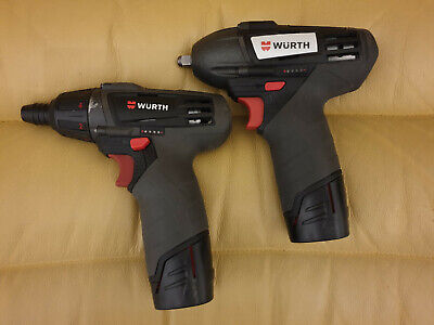 "Legendary WÜRTH impact wrench 3/8"" & driver 12V, two batteries, charger, toolbox"
