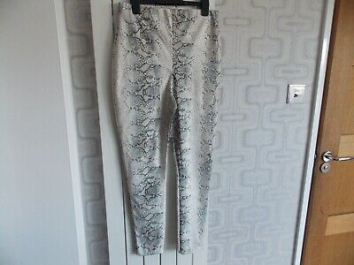 Missguided Snake Print Leggings Plastic PU Vinyl faux Leather size M 12