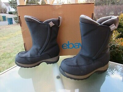 LANDS END Navy Waterproof Insulated  Winter Boots, Boys/Girls size 11