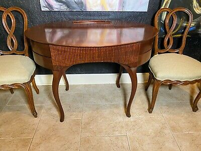 "Art Deco Mahogany Ladies' writing desk / console / table ""French Moderne"" style"