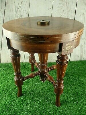 Vintage Wooden Piano Stool  (Missing top section / cushion) Can Be Used As Table