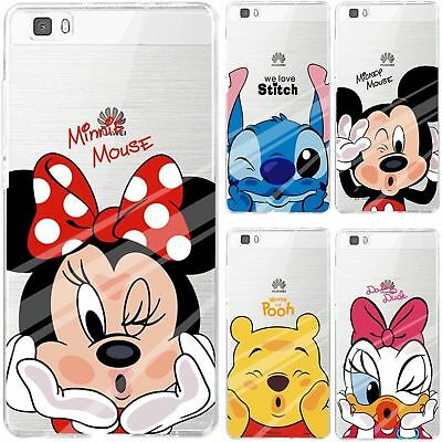 DISNEY MICKEY MINNIE Soft Clear Case Cover For HUAWEI P20 P8 P9 ...