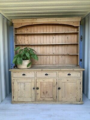 Fabulous Very Large Old Pine Dresser