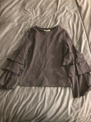 Joyfolie Girls Ruffled Aleeve Top Size 7