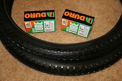 Pair of two Beach Cruiser  Bike Tire 24 x 2.125 DURO  Pick up Colors