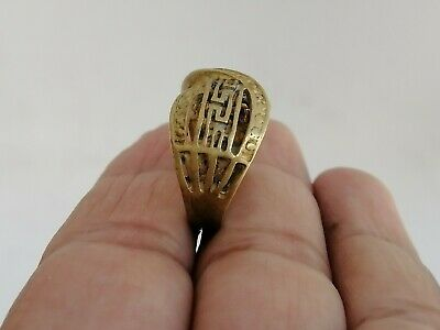 Rare Extremely Ancient Roman Ring Bronze Old Artifact Museum Quality