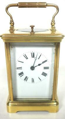 Antique French 8 Day Carriage Clock Fine Small Repeater French Mantel Clock 1890