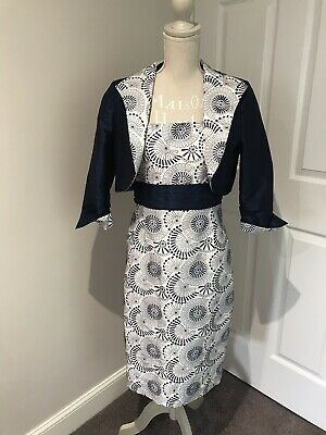 Wedding/Mother Of The Bride Carina Dress And Jacket Size 14