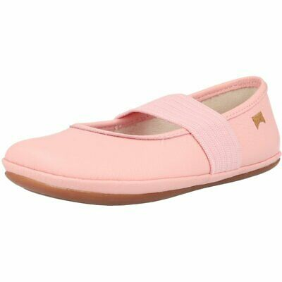 Camper Right Light Pastel Pink Leather Child Ballet Flats Shoes