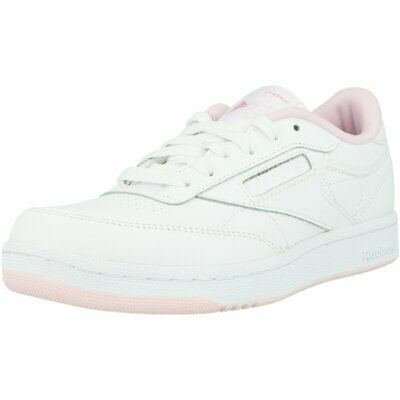 Reebok Classic Club C White Leather Junior Trainers Shoes