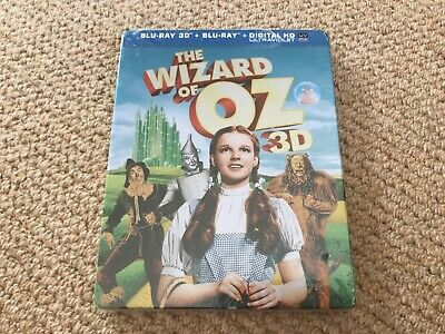 The Wizard of Oz + 3D - Blu-Ray Steelbook - Brand New & Sealed  - Dent & clicky