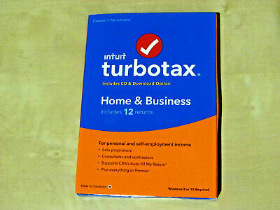 TURBOTAX HOME & BUSINESS 2019 for Canada (12 returns, Bilingual *NEW Original)